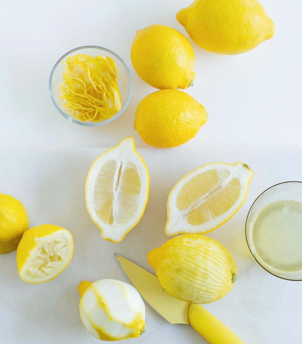 Lemon juice and rind for the Lemon Semolina Cake Recipe using Eden Valley Flour